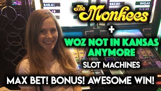 Download Bonus!!! So Many Progressive WINS on Wizard of OZ Not in Kansas Anymore Slot Machine!!! Video