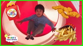 Download Family Fun Time at McDonald's Indoor Playground! Happy meal toy surprise with Ryan's Family Review Video