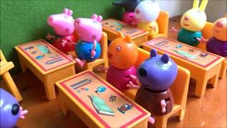 Download Đồ chơi LỚP HỌC HEO PEPPA PIG, bàn ghế, 1 giáo viên, 8 học sinh & bảng, Peppa Pig Toys (Chim Xinh) Video