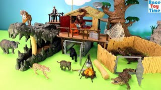 Download Schleich WildLife Crocodile Jungle Research Playset Fun Toys For Kids - Learn Animals Names Video