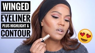 Download Step by Step: Highlight & Contour Plus The Perfect Winged Eyeliner Tutorial Video