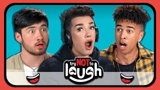 Download YouTubers React To Try to Watch This Without Laughing Or Grinning #28 Video