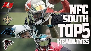 Download NFC South Top 5 Offseason Headlines Heading into the 2017 Season! | NFL NOW Video
