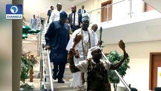 Download Ooni Of Ife Visits State House Again, Meets Osinbajo Video