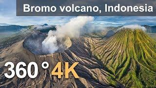 Download 360°, Bromo volcano, Java, Indonesia, 4K aerial video Video