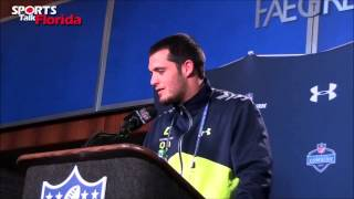 Download 2014 NFL Combine: Derek Carr on playing for the Tampa Bay Buccaneers Video