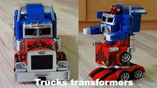 Download Transformers Toy Truck Transformation Robot Car Transformer Optimus prime Toy transformation car Video