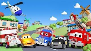 Download Der Streifenwagen in Autopolis 🚓 🚒 Cartoons für Kinder - LIVE Video