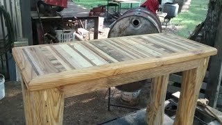 Download Reclaimed wood bench Video