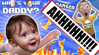Download BABY IN DANGER ☠ Who's Your Daddy Skit + Gameplay w/ Shawn vs Knife, Fire, Glass & More (FGTEEV Fun) Video