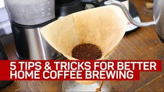 Download 5 tips and tricks for brewing better coffee at home Video