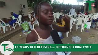 Download Watch.... 10 Years Old Blessing, Returnee From Libya Video