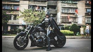 Download Xe & Phong Cách 24h - Harley davidson V-Rod độ bánh béo mang phong cách Batman của Biker Việt. Video
