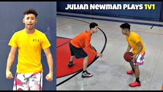 Download Julian Newman Plays ANGRY Part 2! 1v1 with Downey Teammates Video