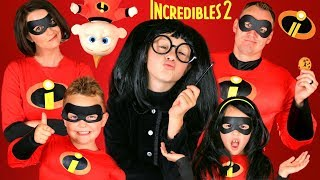 Download Disney Pixar Incredibles 2 Edna Mode Makeup and Costumes! Incredibles Family Lost Jack Jack!!! Video