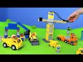 Download Fire Truck, Excavator, Train, Garbage Truck, Police Cars & Tractor | LEGO Construction Toy Vehicles Video