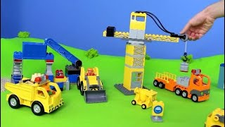 Download Fire Truck, Excavator, Train, Garbage Truck, Police Cars & Tractor   LEGO Construction Toy Vehicles Video