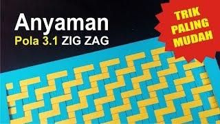 Download CARA MUDAH membuat anyaman kertas sederhana dengan pola 3.1-ZIG ZAG Video