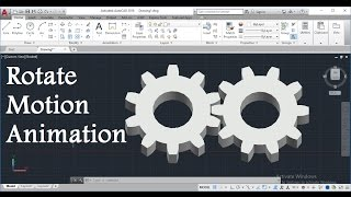Download How To Create 3D Gear Rotate Motion Animation In AutoCAD - Script (Rotate) Command Video
