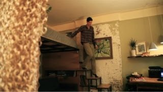 Download Product designer turns 271sq ft into a ″tree house″ apt - Tiny Eclectic Amazing Spaces video Video