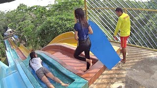 Download Indonesian Ladies on the Racer Slide at Water Kingdom Mekarsari Video