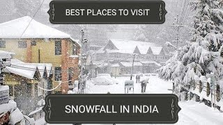 Download Best Places to enjoy Snowfall in India | Snowfall in india Video