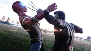 Download IRON SPIDER-MAN FIGHTS WOLVERINE vs CYCLOPS & JAX (IRON SPIDER FROM AVENGERS INFINITY WAR) Video