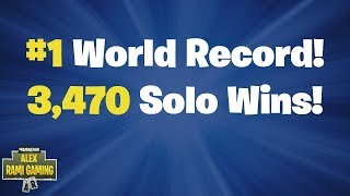 Download #1 World Record 3,470 Solo Wins | Fortnite Live Stream Video