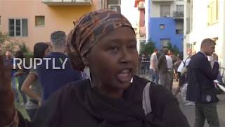 Download Italy: 100 migrants evicted from occupied ex-Olympic Village in Turin Video