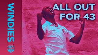 Download All Out For 43 - The Lowest Test Score for 44 years | Windies Finest Video