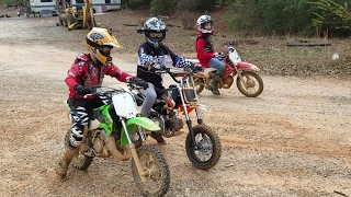 Download Kids riding Dirt bikes, drag racing, and big jumps at High Fall MX Video