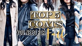Download Top 5 Fall Coats + Jackets: Affordable Video