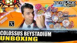 Download UNBOXING 🇧🇷 COLOSSUS BEYSTADIUM + LUTAS E QR CODE! BEYBLADE BURST EVOLUTION ベイブレードバースト Video