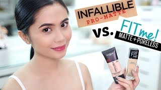 Download FOUNDATION FACE-OFF: L'OREAL Infallible Pro-matte vs. MAYBELLINE Fit Me Matte+Poreless | Anna Cay ♥ Video