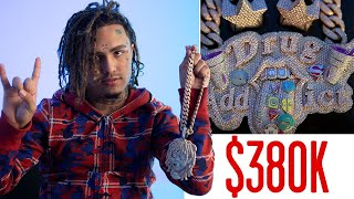 Download Lil Pump Shows Off His Insane Jewelry Collection | On the Rocks | GQ Video