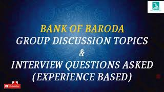 Download Bank of Baroda GD and Interview(Experience based) Video