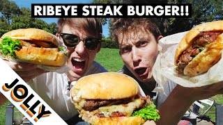 Download NEW ZEALAND RIBEYE STEAK BURGER😍 Video