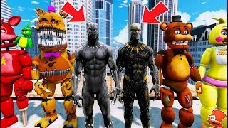 Download ANIMATRONICS & BLACK PANTHER vs KILLMONGER! (GTA 5 Mods For Kids FNAF RedHatter) Video