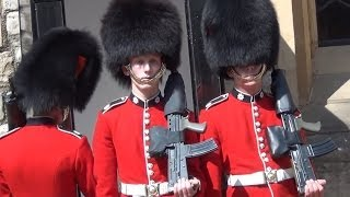 Download Changing of the guard at the Tower Of London. ″Coldstream Guards″. London. Video