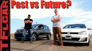 Download Past vs Future: 2017 Chevy Bolt vs VW GTI Drag Race Video