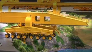 Download RC Crane: Bridge Building with SLJ900 Bridge Girder | XXL RC Construction Site | Road Work Video