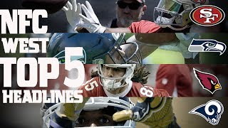 Download NFC West Top 5 Offseason Headlines Heading into the 2017 Season! | NFL NOW Video