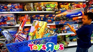 Download TOYS″R″US SHOPPING FOR NERF GUNS | Jason Buys Over a Dozen Guns To Build His Arsenal Video
