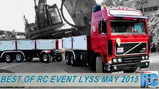 Download BEST OF RC TRUCKS MEGA EVENT, LYSS, MAY 2015 IN SWITZERLAND, EXCAVATOR, WHEEL LOADER, TRACTOR Video
