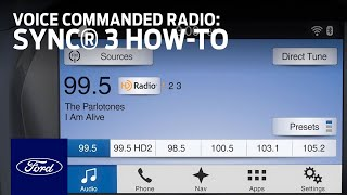 Download SYNC 3 Voice Commanded Radio | SYNC 3 How-To | Ford Video