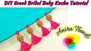 Download DIY Grand Bridal Baby Kuchu Tutorial How to make Bridal kuchu Saree Tassel at home Video