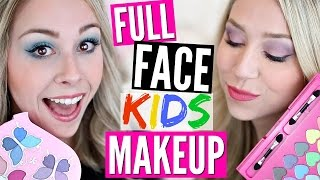 Download FULL FACE USING ONLY KIDS MAKEUP Challenge Video
