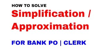 Download Approximation Tricks in maths for Bank Exams [In Hindi] Video