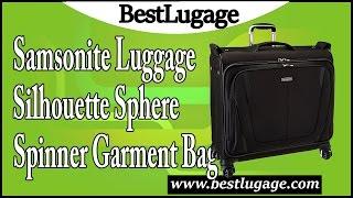 Download Samsonite Luggage Silhouette Sphere Spinner Garment Bag Review Video