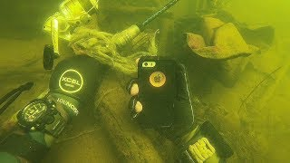 Download Found iPhone Underwater While Scuba Diving a Boat Ramp! (What's Under the Boat Ramp?) Video